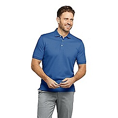 Lands' End - Blue Traditional Fit Supima Polo