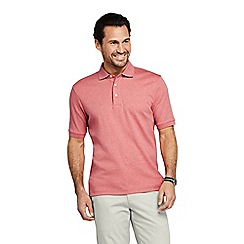 Lands' End - Orange Traditional Fit Supima Polo