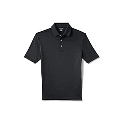Lands' End - Grey short sleeved tailored fit supima polo
