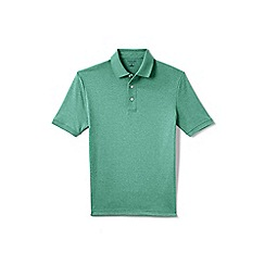 Lands' End - Green short sleeved tailored fit Supima polo shirt