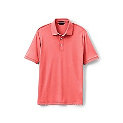 Lands' End - Pink short sleeved tailored fit Supima polo shirt