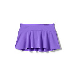 Lands' End - Girls' purple beach basics swim skirt