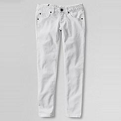 Lands' End - White girls' 5-pocket coloured slim pencil leg jeans