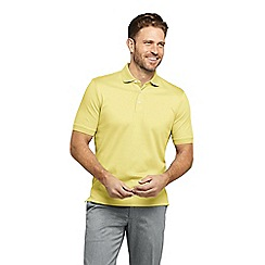 Lands' End - Gold Short Sleeve Supima Banded Sleeve Polo