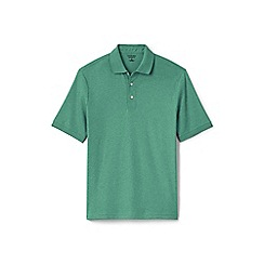 Lands' End - Green short sleeve Supima banded sleeve polo shirt