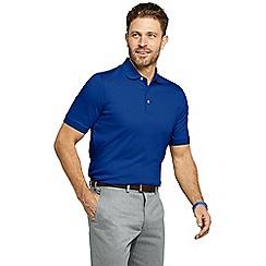 Lands' End - Blue tall  short sleeve supima banded sleeve polo