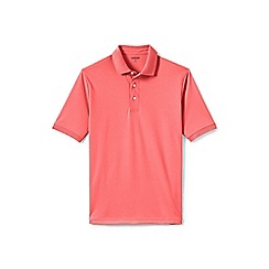Lands' End - Pink short sleeve Supima banded sleeve polo shirt