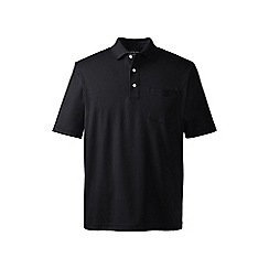 Lands' End - Black supima polo with pocket
