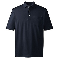 Lands' End - Blue supima polo with pocket