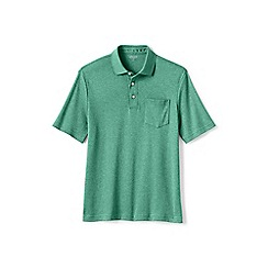 Lands' End - Green Supima polo shirt with pocket