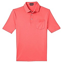 Lands' End - Pink Supima polo shirt with pocket