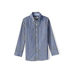 Lands' End - Boys' blue button down poplin shirt