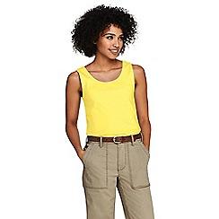 Lands' End - Yellow Cotton Interlock Vest