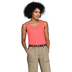 Lands' End - Orange Petite Cotton Vest Top