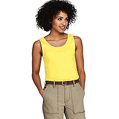 Lands' End - Yellow Petite Cotton Vest Top