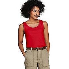Lands' End - Red Petite Cotton Vest Top