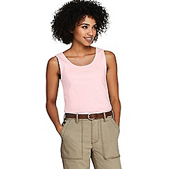 Lands' End - Pink Petite Cotton Vest Top
