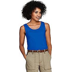 Lands' End - Blue Petite Cotton Vest Top