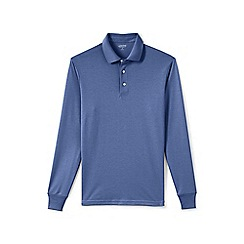 Lands' End - Purple long sleeve supima rugby shirt