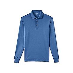 Lands' End - Blue Long Sleeve Supima Polo Shirt