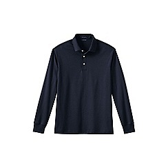 Lands' End - Blue men's long sleeve supima polo