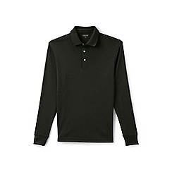 Lands' End - Green long sleeve tailored fit Supima polo shirt