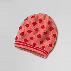 Lands' End - Girls' orange spot and stripe hat