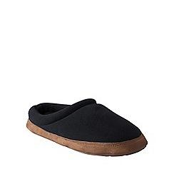 Lands' End - Black men's fleece clog slippers