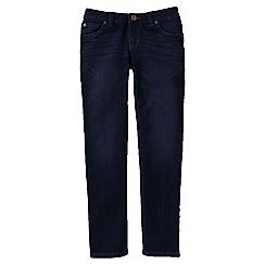 Lands' End - Blue little girls' 5-pocket pencil leg denim jeans