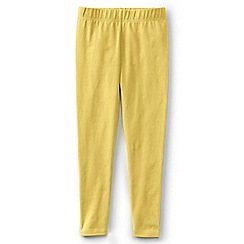Lands' End - Girls' Yellow plain ankle length jersey leggings