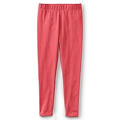 Lands' End - Girls' red plain ankle length jersey leggings