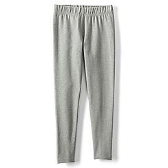 Lands' End - Girls' grey plain ankle length leggings
