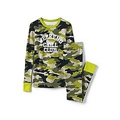 Lands' End - Green boys snug fit cotton pyjamas