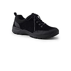 Lands' End - Black wide all-day suede lace-up shoes