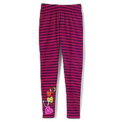 Lands' End - Girls' pink floral ankle length leggings