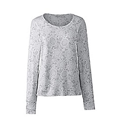 Lands' End - Grey petite thermaskin heat scoop neck top