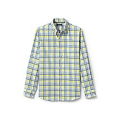 Lands' End - Yellow traditional fit easy-iron twill shirt