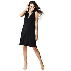 Lands' End - Black sleeveless jersey cover-up dress