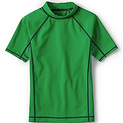 Lands' End - Boys Toddler Green short sleeve rash guard top