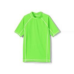 Lands' End - Green toddler boys' short sleeve rash guard top