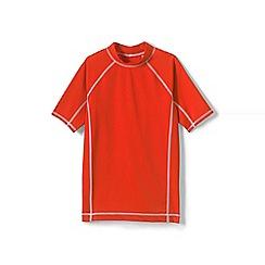 Lands' End - Orange toddler boys' short sleeve rash guard top