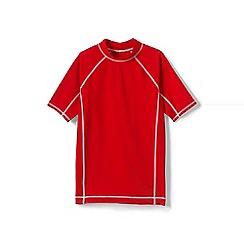 Lands' End - Orange boys' short sleeve rash guard top