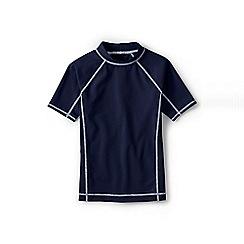 Lands' End - Blue boys' short sleeve rash guard top