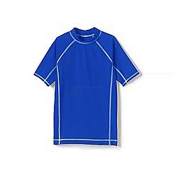 Lands' End - Boys' blue short sleeve rash guard top