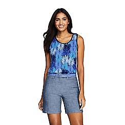 Lands' End - Blue Regular Patterned Cotton Vest Top