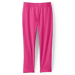 Lands' End - Pink girls' cropped leggings