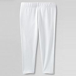 Lands' End - White girls' cropped leggings