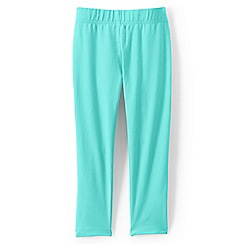 Lands' End - Aqua girls' cropped leggings