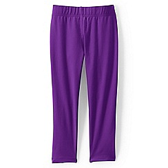Lands' End - Purple girls' cropped leggings