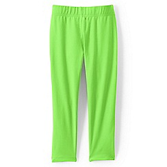 Lands' End - Green girls' cropped leggings
